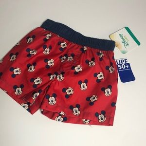 Mickey Mouse swim trunks red & blue